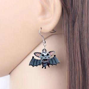 Bat Acrylic Earrings